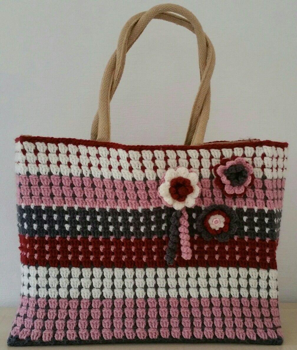Crochet AH jutte bag