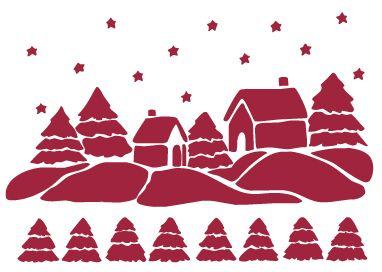 stencil natalizio
