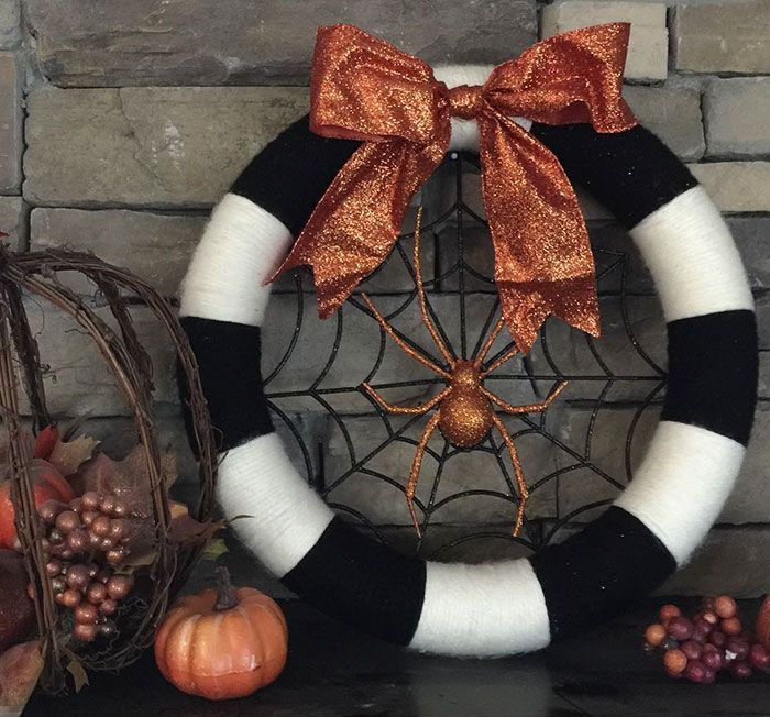Halloween Wreaths Are A Thing Now, And They're Creepily Awesome #halloweenwreaths