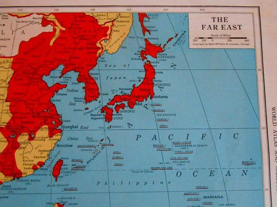 Map Of Asia Un.Old War Map Of The Far East 1940s Asia Historical Map 1945 Wwii