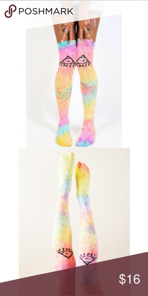 9469d915c5c UNIF rainbow tie dye socks Worn once UNIF Accessories Hosiery   Socks