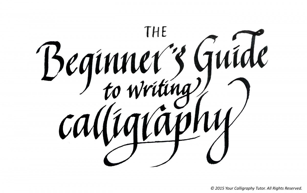 Ever wondered how to write beautiful calligraphy? This guide brings you  along right from the very first step, like getting your pens and paper, ...
