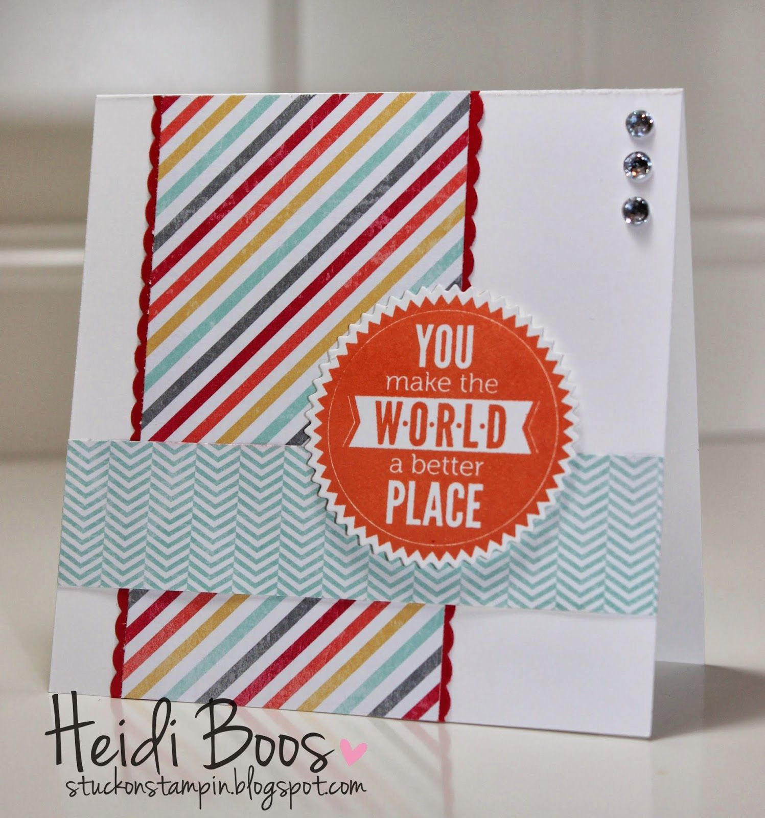 Quick u easy cards heidi boos stuckonstampinspot