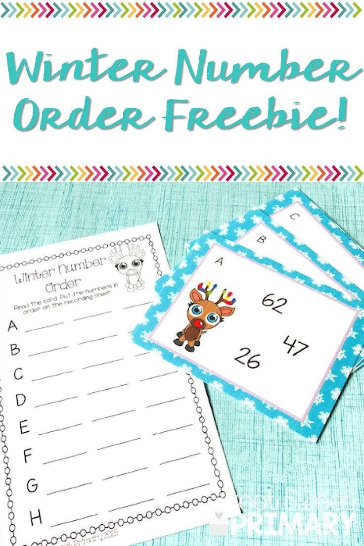 Free winter number order math center | Winter in the Classroom ...