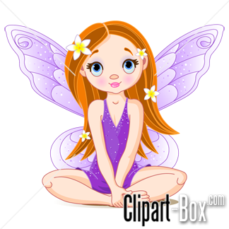 Fairy sitting. Clipart glass art cute