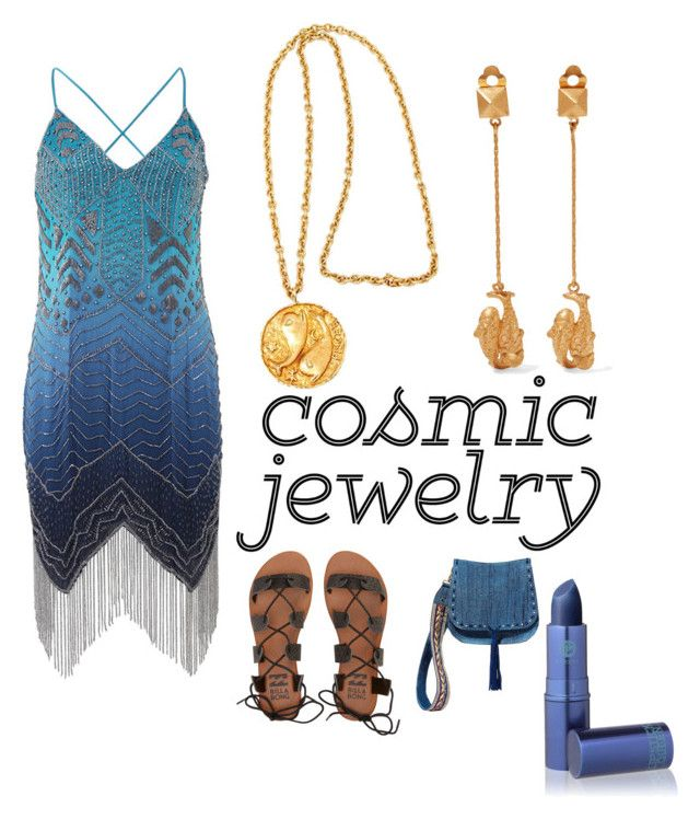 """""""Pisces"""" by lilyisasavage on Polyvore featuring Valentino, Haute Hippie, Billabong, Steve Madden and Lipstick Queen"""