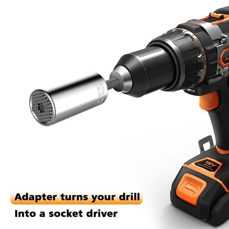 Domom Universal Socket Silver Power Drill Diy Handyman Drill