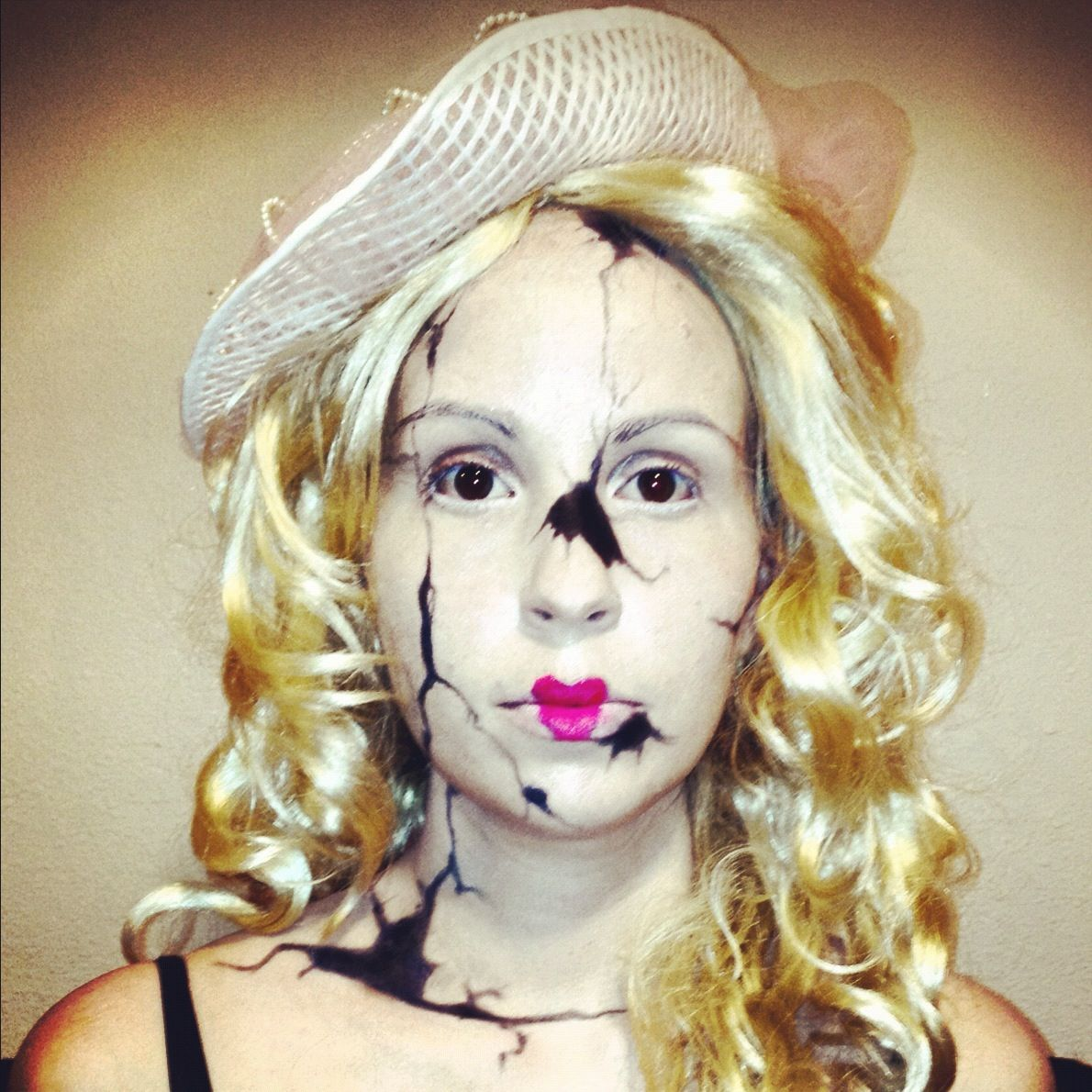 broken porcelain doll makeup halloween pinterest