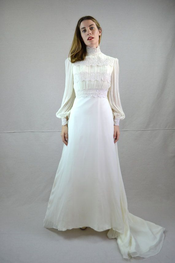 1970s wedding dress arlette by breannefaouzi modest for 1970s vintage wedding dresses