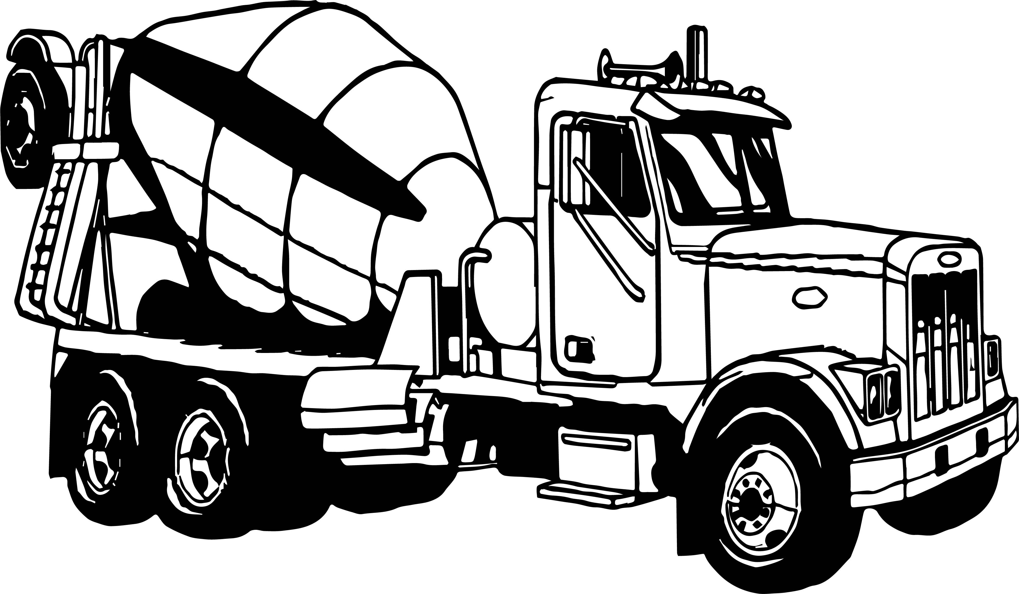 awesome Mixing Big Truck Coloring Page | Big trucks, Truck ...