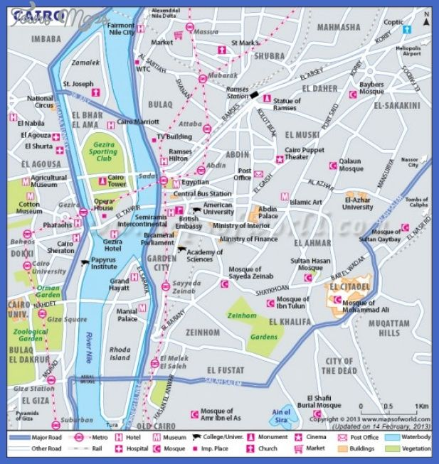 Cairo Map - http://toursmaps.com/cairo-map.html