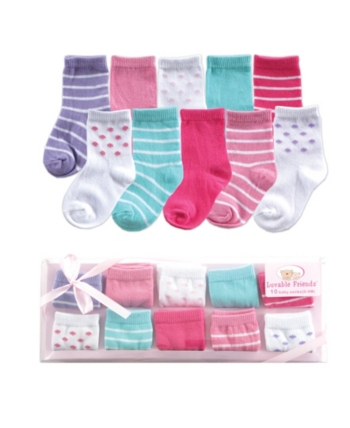 Baby Vision Luvable Friends Socks Gift Set 10 Pack 0 9 Months Baby Socks Baby Vision Baby Clothes Shops