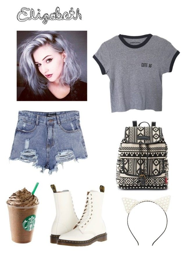 """""""Elizabeth"""" by isabelllaaaa13 ❤ liked on Polyvore featuring Charlotte Russe, Chicnova Fashion, UNIONBAY and Dr. Martens"""
