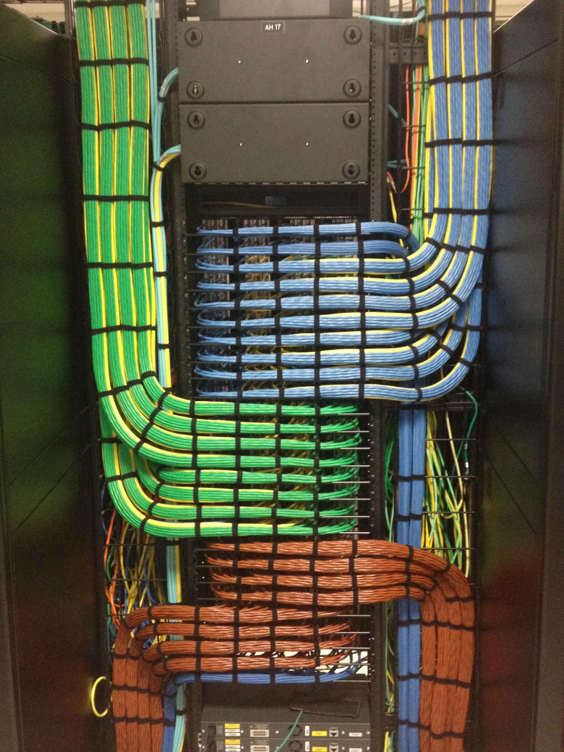 perfect data cable run rgb red blue green patch panel wiring  [ 1836 x 2448 Pixel ]