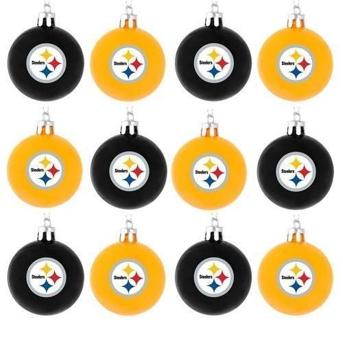 Steelers Christmas Ornaments.Pittsburgh Steelers Nfl 12 Pack Plastic Ball Ornament Set