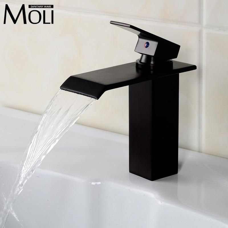 Buy Oil Rubbed Bronze Basin Faucet Solid Brass Bathroom Vessel Sink