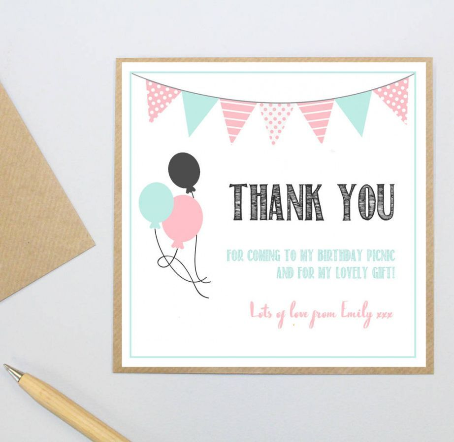 Explore Our Printable Thank You Card For Coming To My Birthday Party Bridesmaid Thank You Cards Thank You Postcards Printable Thank You Cards