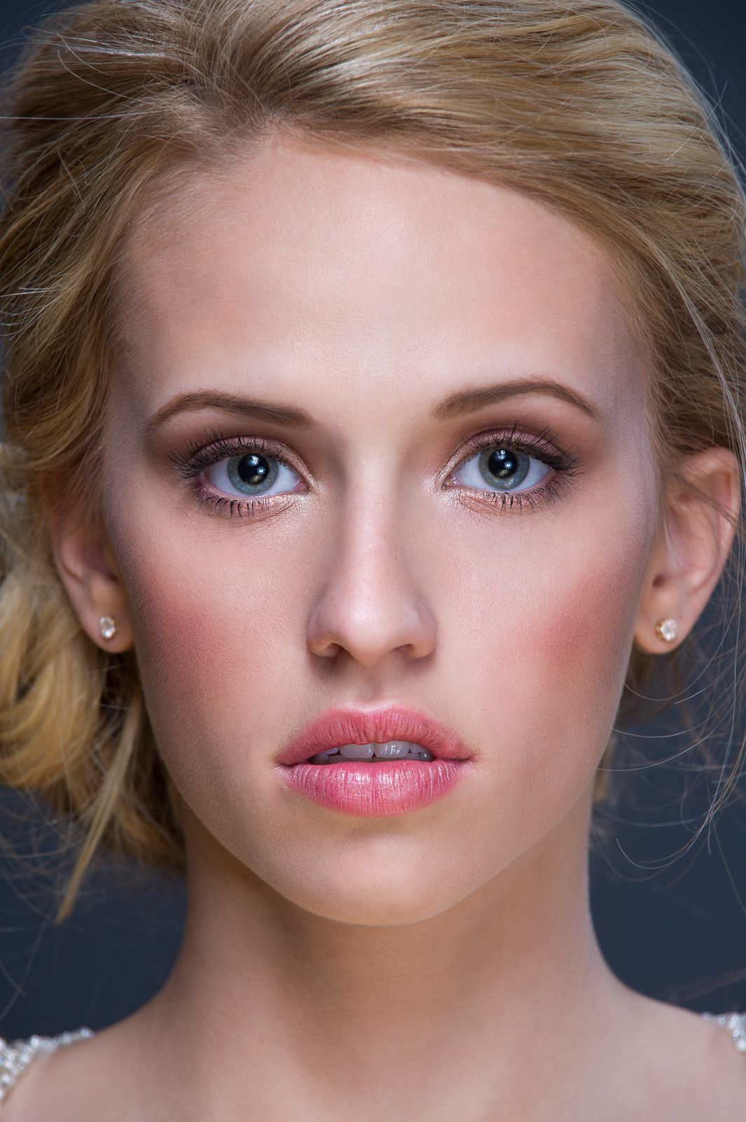 Alluring Eyes, Kissable Lips Bridal makeup, Kissable