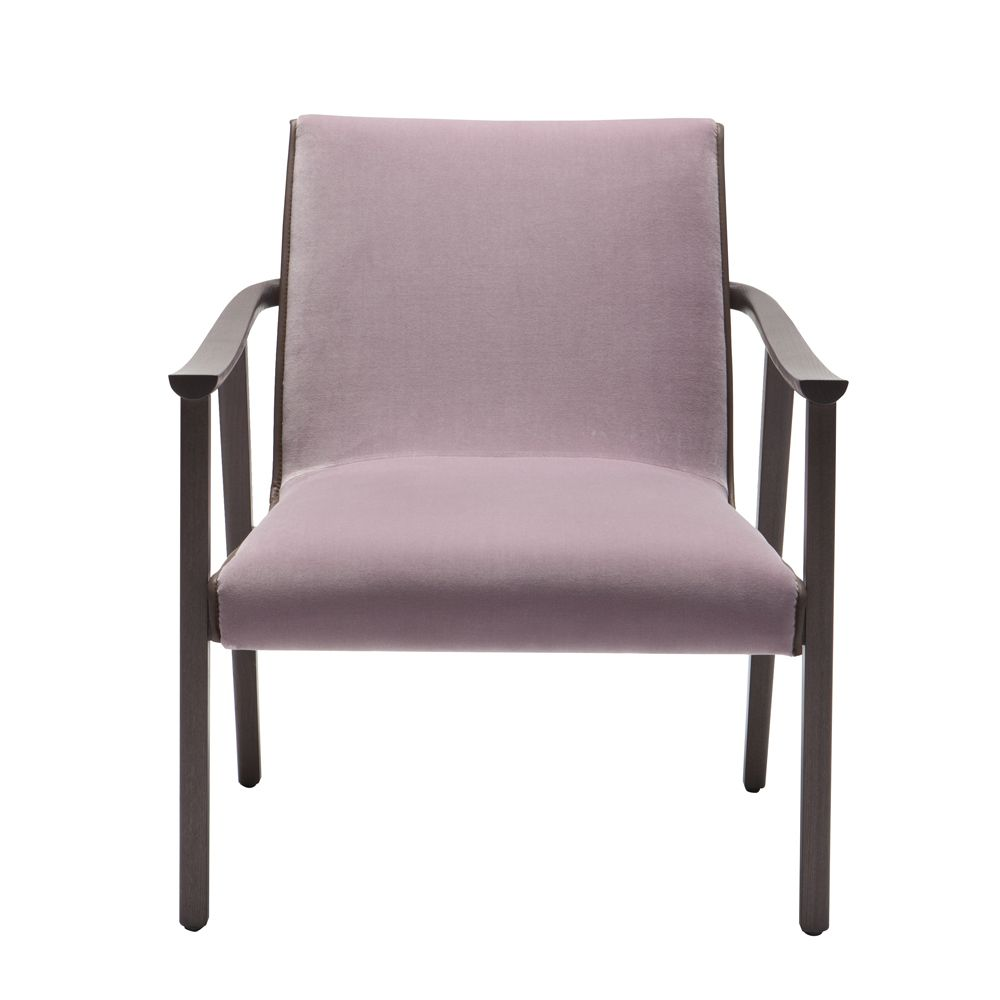 Dea Upholstered lounge armchair Frame ash Upholstery