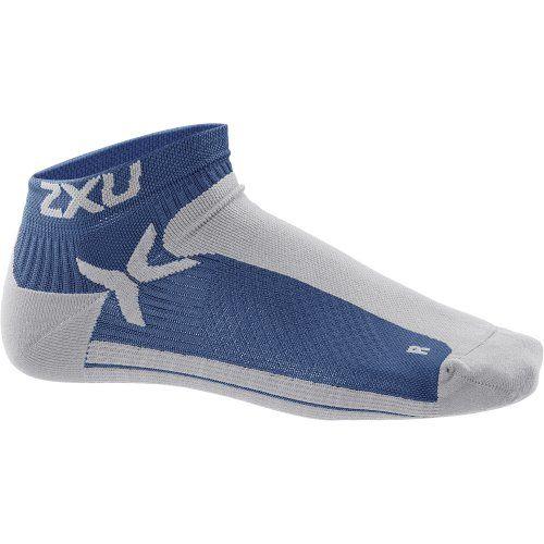 Wow -  2XU Men's Performance Low Rise Socks, Denim/Silver, Large/X-Large / http://livinglds.com/2xu-mens-performance-low-rise-socks-denimsilver-largex-large-2/