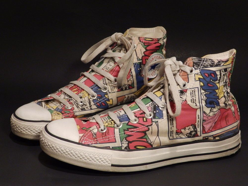 Converse All Star Chuck Taylor Shoes Unisex Comic Strip/Roy Lichtenstein  Mens 7