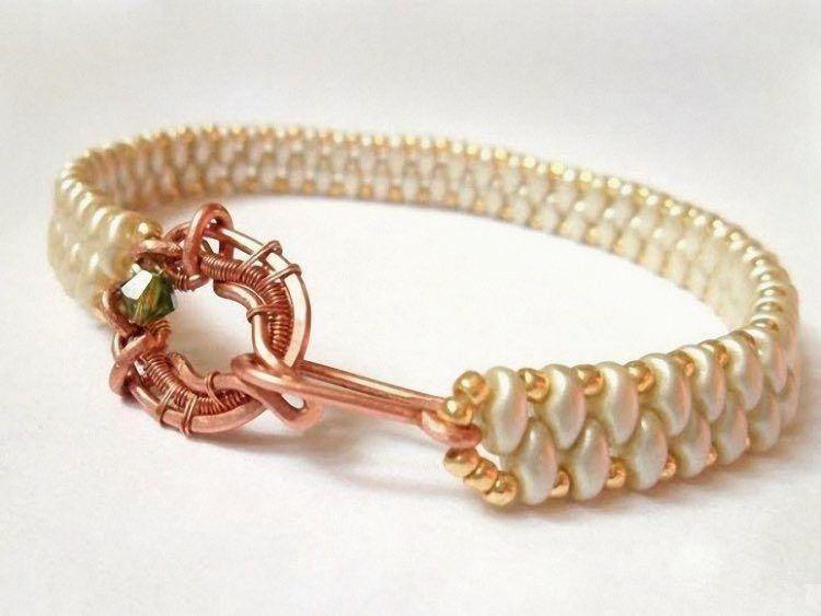 Diy anleitung elegantes perlenarmband selber machen via drahtschmuck schmuck - Perlenarmband selber machen ...