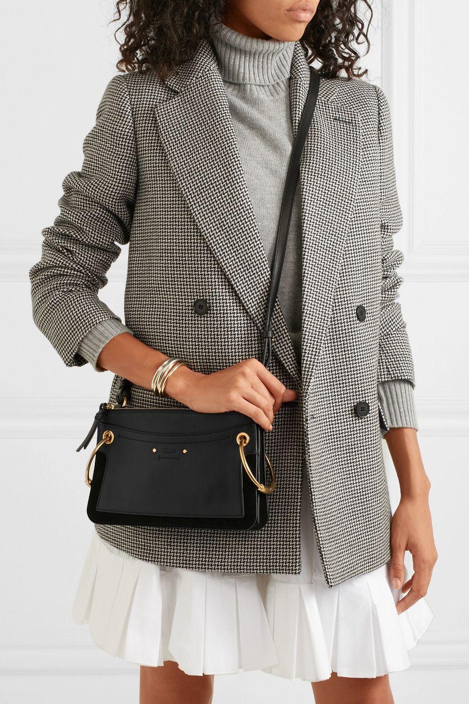 8945bc982 Chloé | Roy mini leather and suede shoulder bag | NET-A-PORTER.COM