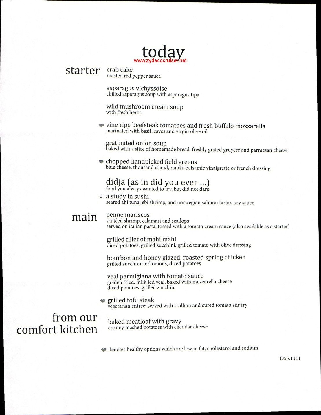 carnival elation mdr dinner menu 5 cruising carnival elation