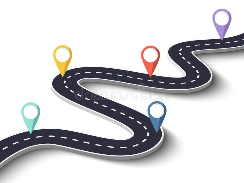 Winding Road On A White Isolated Background With Pin Pointer Vector Eps 10 Win Sponsored Ad S Road Map Design Infographic Templates Roadmap Infographic