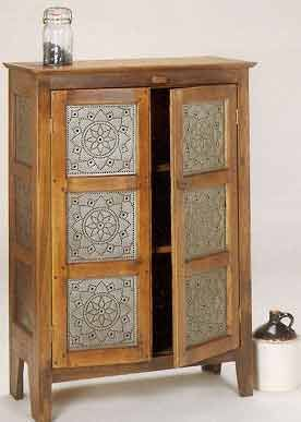 Punched Tin Pierced Copper Brass Country Accents Pie Safe Punched Tin Furniture Design Modern