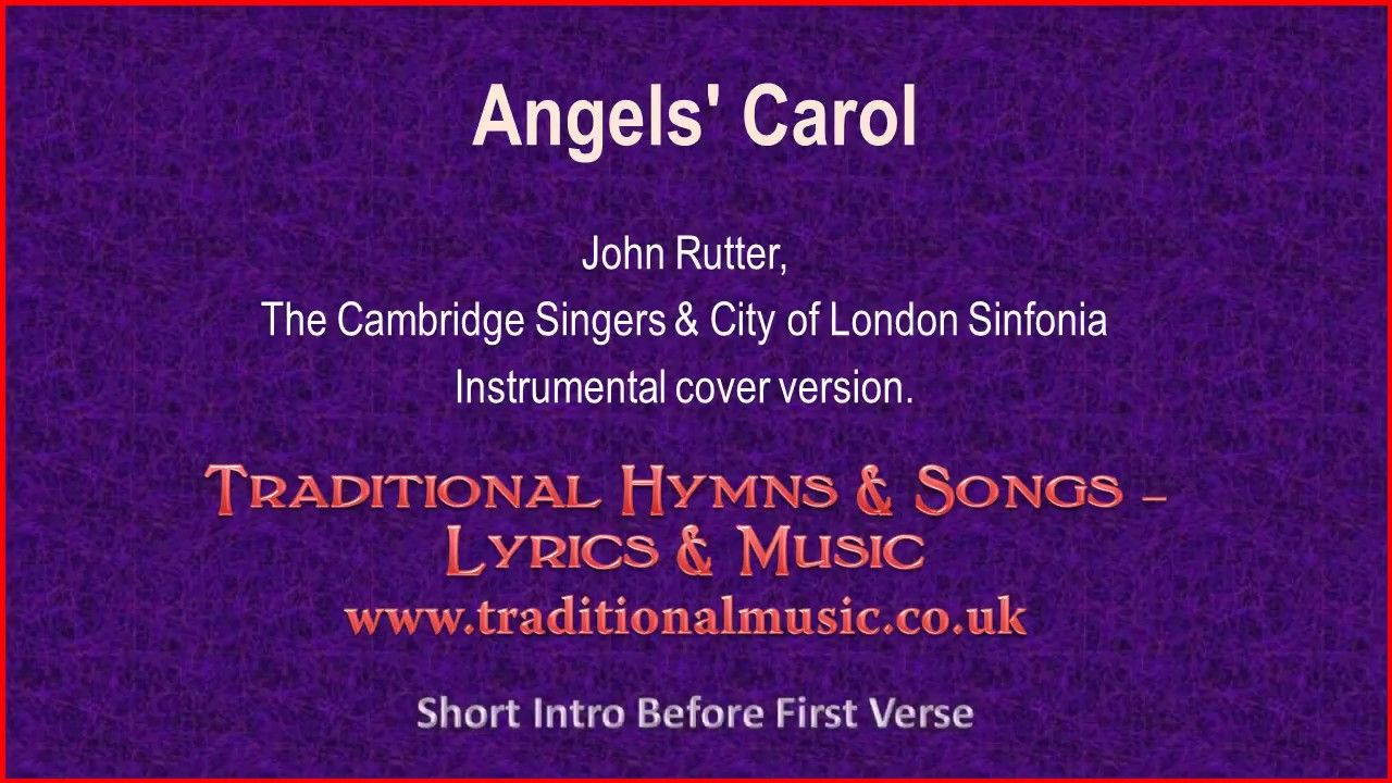 Angels\' Carol(Rutter) - Christmas Lyrics & Music | Christmas Carols ...