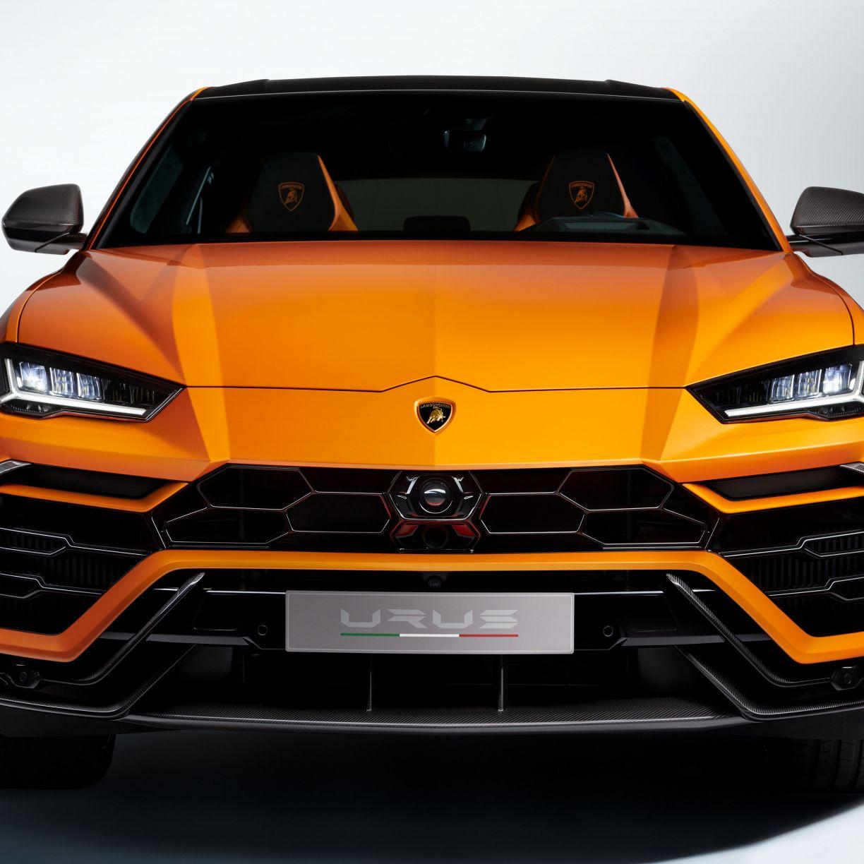 1224x1224 Orange Car Lamborghini Urus Suv Front View Wallpaper Car Wallpapers Orange Car Luxury Suv Cars
