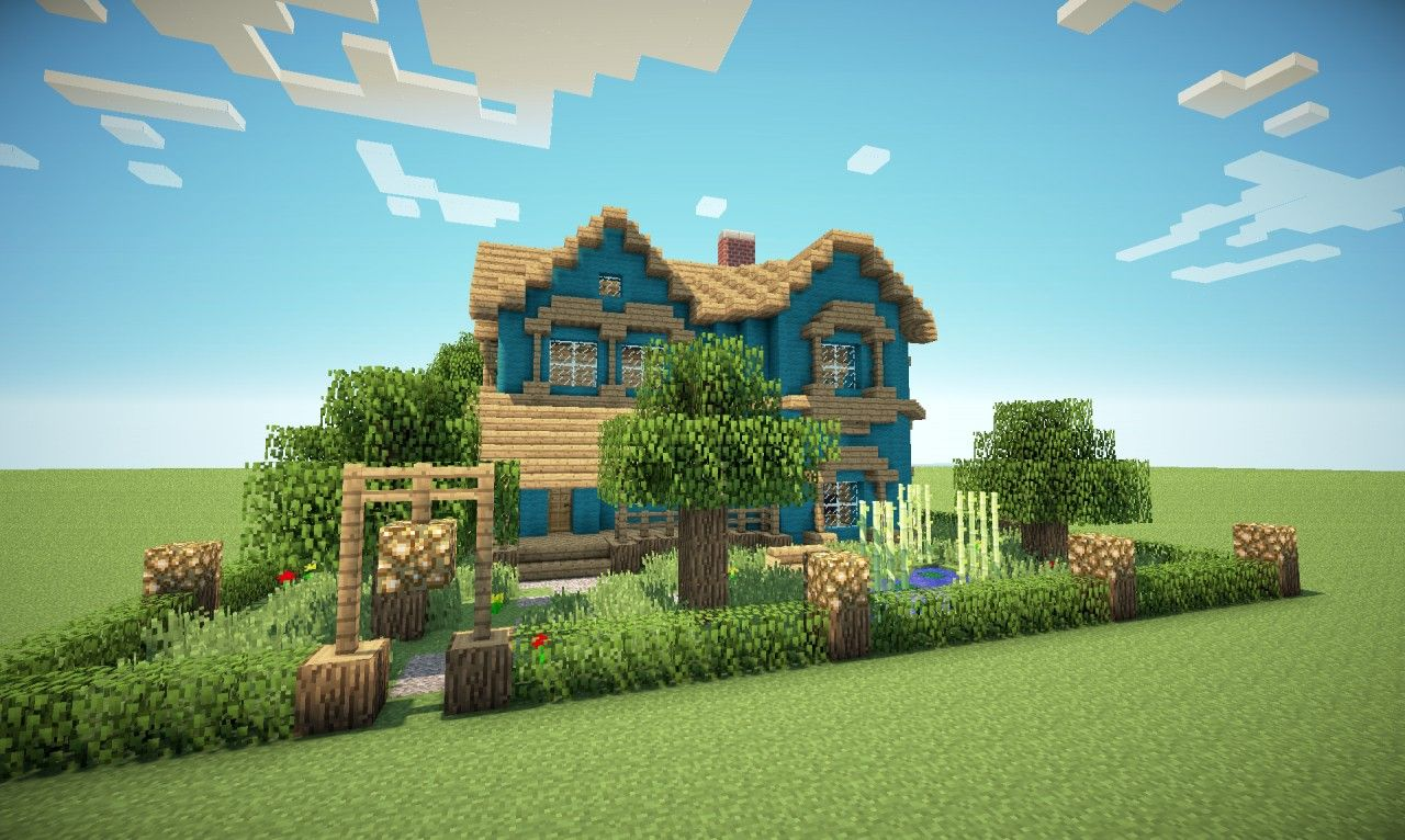 Victorian house in a different colour minecraft project for Minecraft home designs