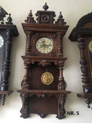 Zegar Zabytkowy ścienny Drewniany Wiszący Zegary Stojące
