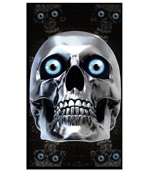 Chrome Skull HD Wallpaper For Your Mobile Phone
