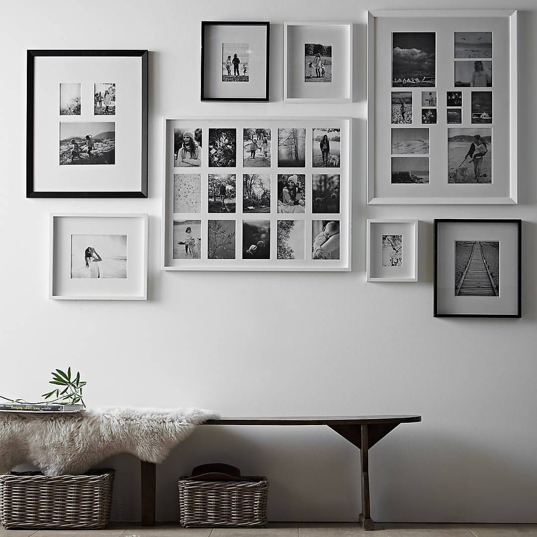 Gallery wall inspiration: black and white prints, frame, decor. Are ...