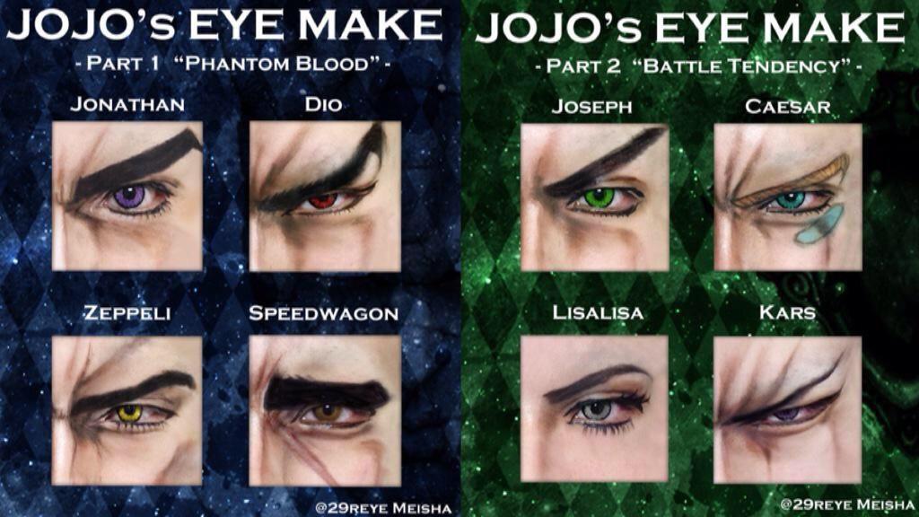 Jojo's Bizarre Adventure: Cosplay Make up Tutorial ...
