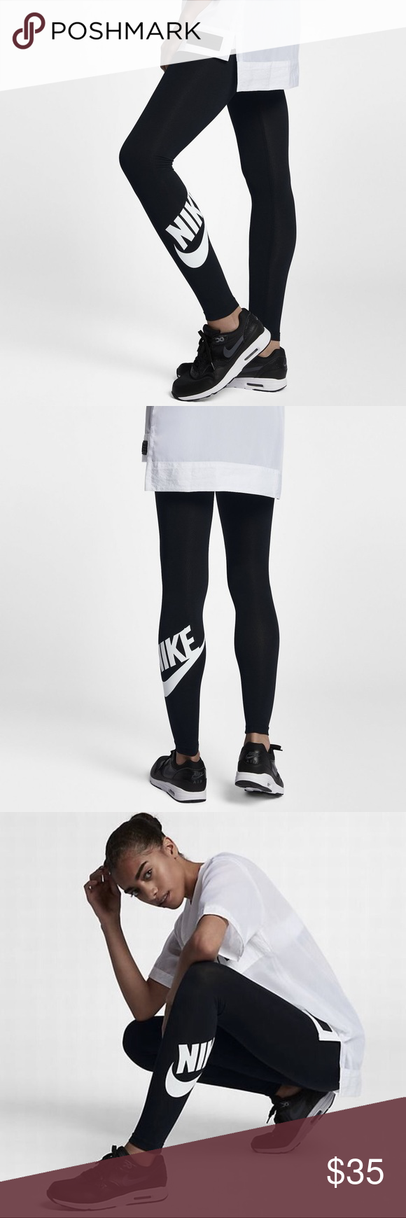 brand new 1014d 39561 Nike High Waisted Leg-A-See Graphic Tights NWT Nike Women s Sportswear High  Waisted Leg-A-See Graphic Tights Size S Nike Pants Leggings