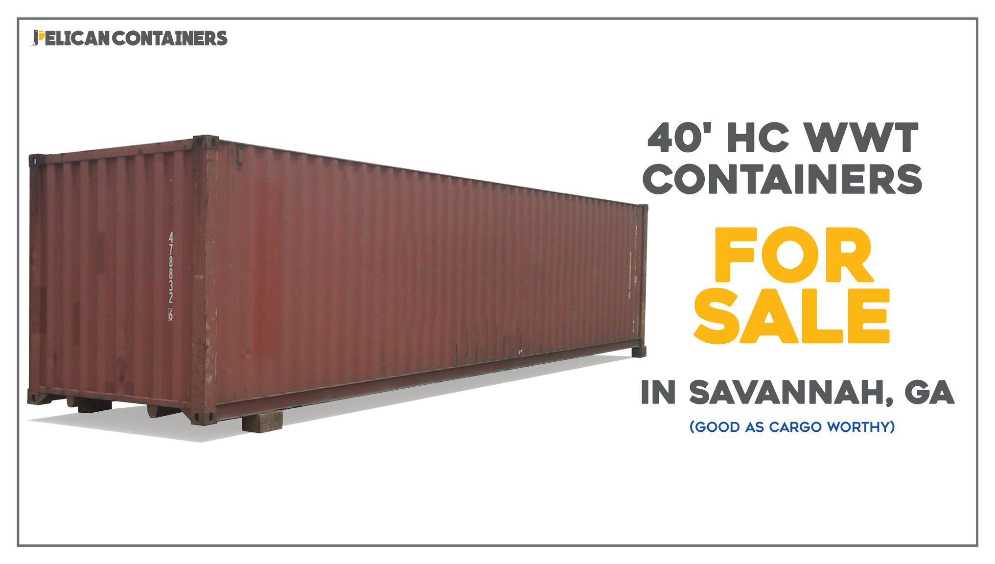 40 Hc Wwt Containers Good As Cargo Worthy For Sale In Savannah Ga Usa Shipping Shipping Containers For Sale Containers For Sale Used Shipping Containers