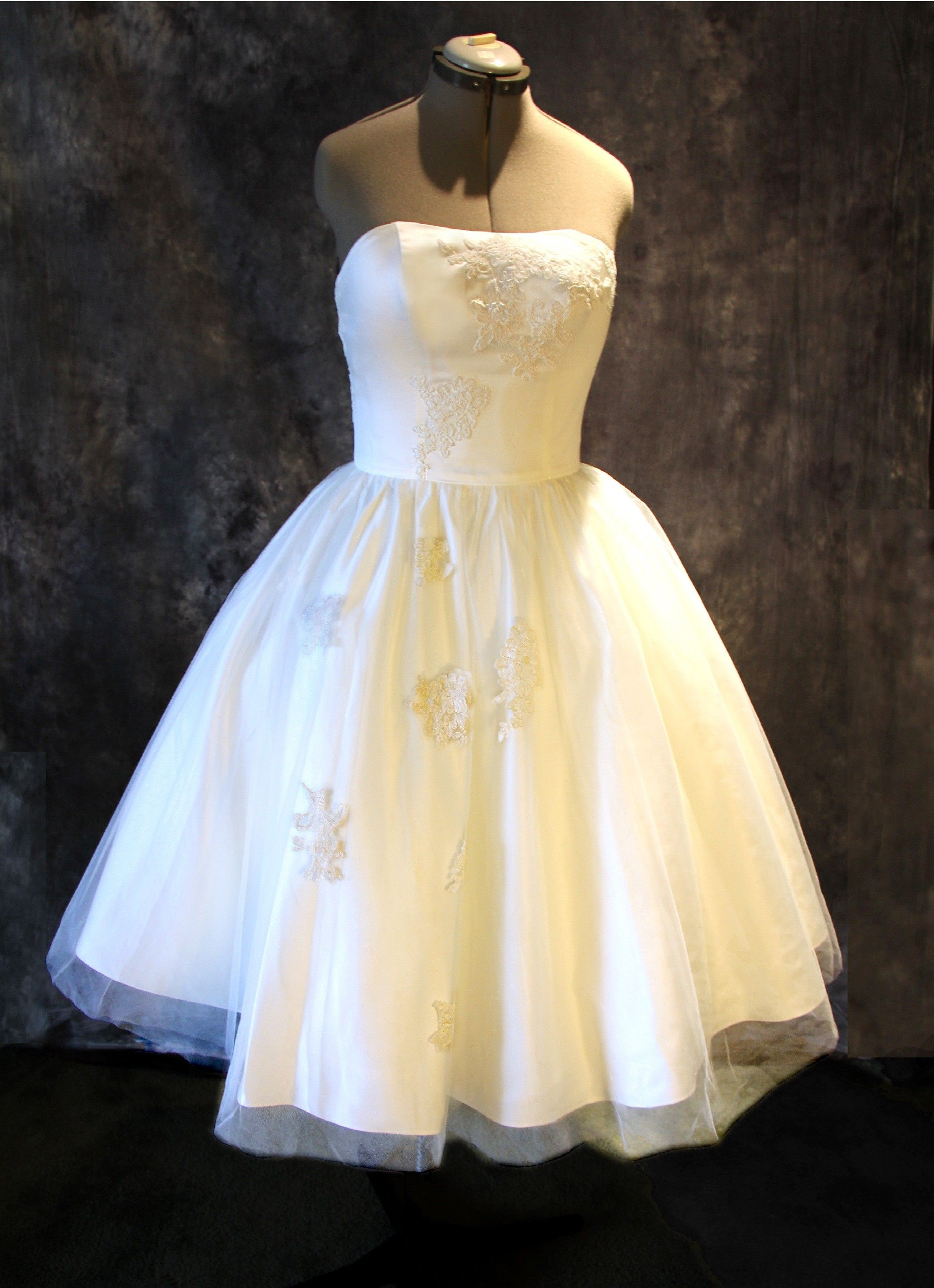 Champagne and ivory wedding dress  The Tuscany is made from taffeta soft tulle and lace applique You
