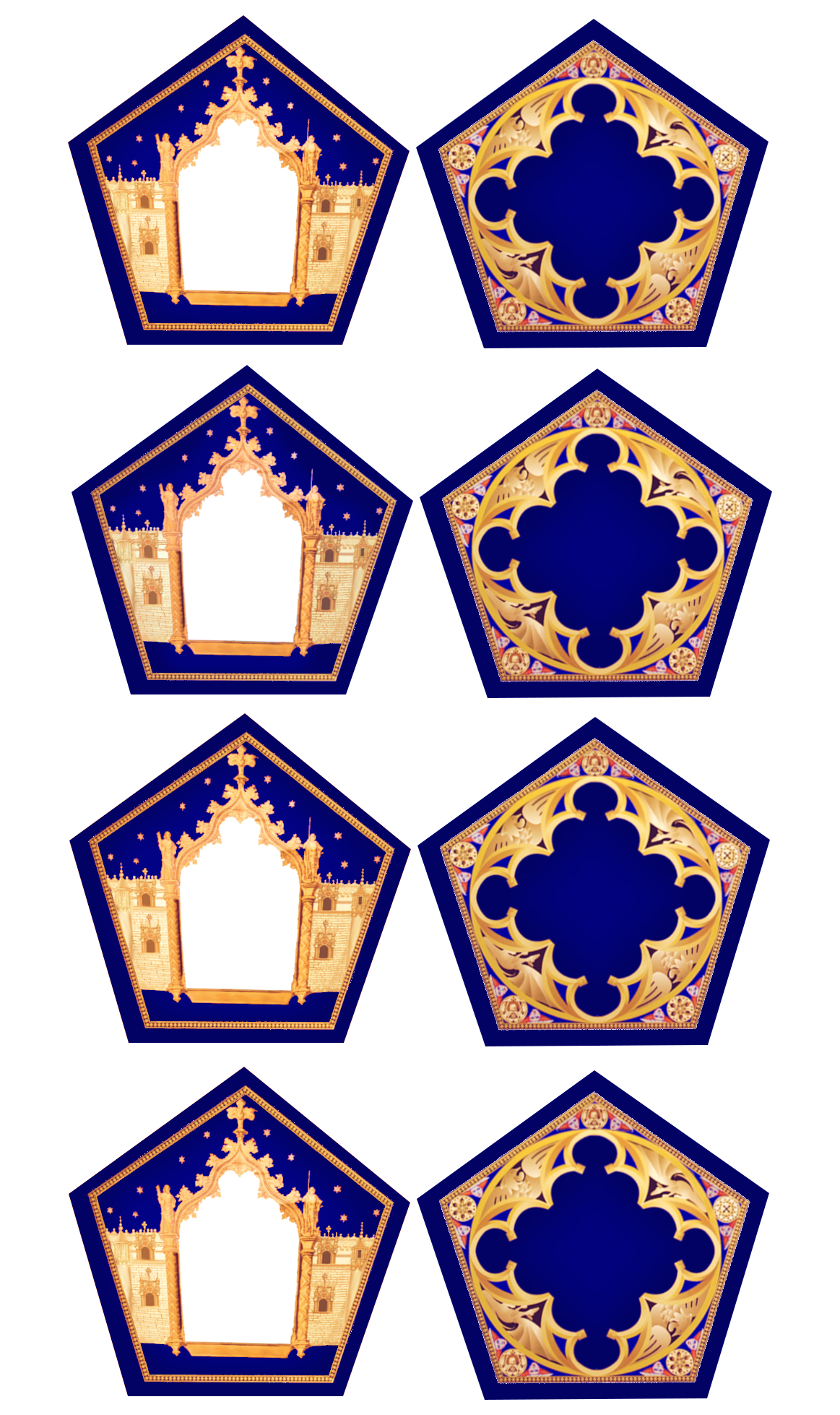 Chocolate Frog Card Template In