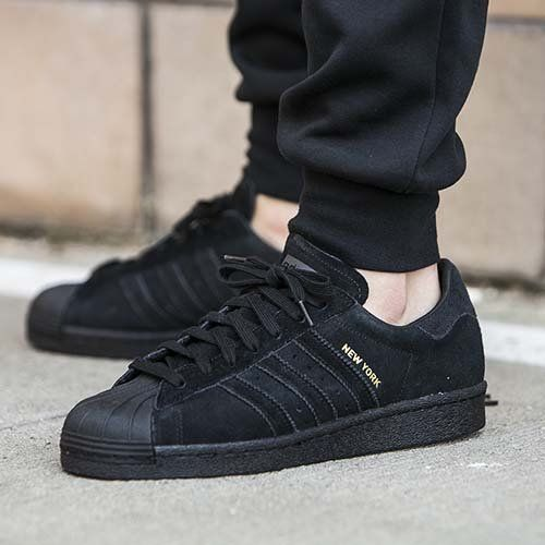 adidas Originals Superstar Black off White Gum Bottom Shell Toe