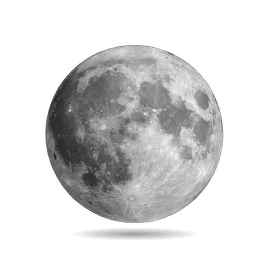 Realistic Full Moon With Wall Decal Wallmonkeys Com Full Moon Tattoo Realistic Moon Tattoo Moon Wall Decal