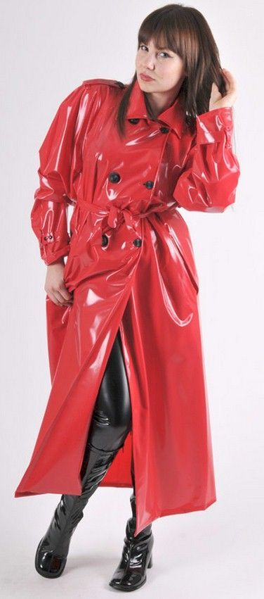 Red Raincoat Black Rubber Boots Hot Pinterest Red