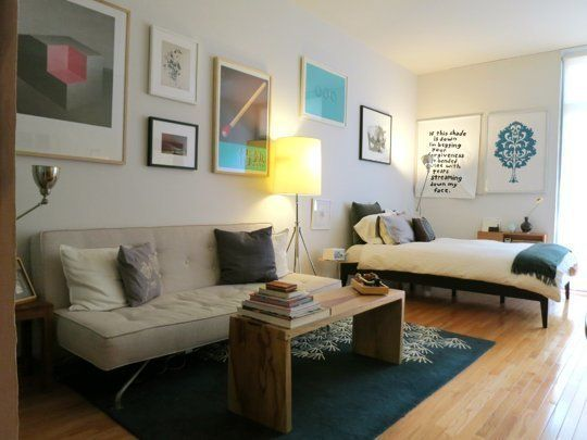 Studio Apartment Solutions small space lessons: floorplan and solutions from hani & andrew's