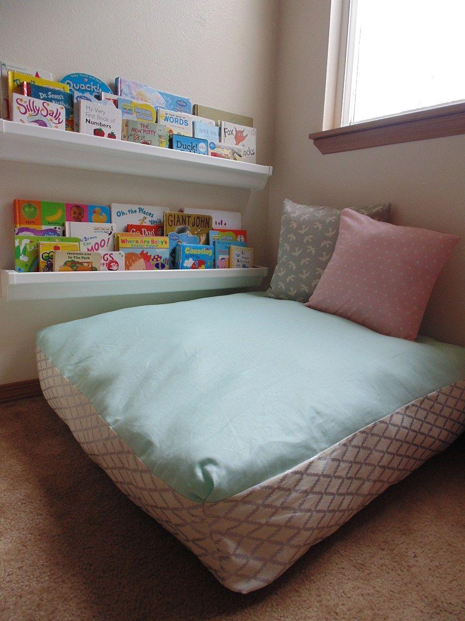 DIY Giant Floor Pillow + Hadley\'s Finished Reading Nook   Floor ...