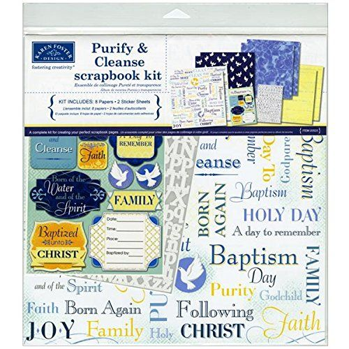 Karen Foster Various Scrapbook Page Kit 12-Inch x 12-Inch-Purify and Cleanse Baptism