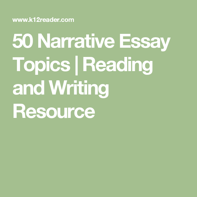 narrative essay topics for middle school