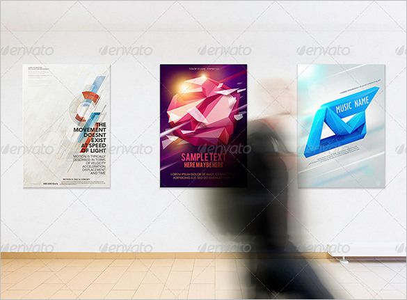 16+ Gallery Poster Templates and Mockups - Free PSD, EPS, AI - free poster template word