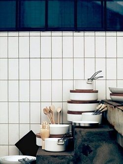 Vertical Stack Subway Tile Kitchen Backsplash